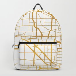 MILWAUKEE WISCONSIN CITY STREET MAP ART Backpack