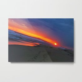 Huntington Beach Sunset 4 Metal Print