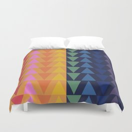 Day and Night Rainbow Triangles Duvet Cover