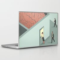 psychology Laptop & iPad Skins featuring Brain Room by Davide Bonazzi