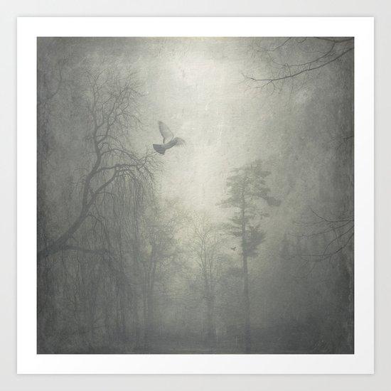 sound of beating wings Art Print