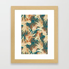 jellyfish blue Framed Art Print