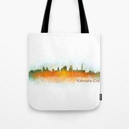 Kansas City Skyline Hq v3 Tote Bag