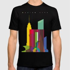 Shapes of Mexico City accurate to scale MEDIUM Mens Fitted Tee Black