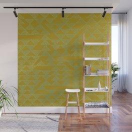event of a thread: olive & aqua Wall Mural