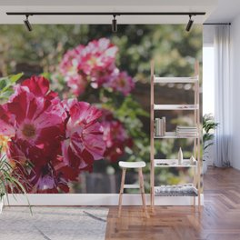 Pink and White Flowers Wall Mural