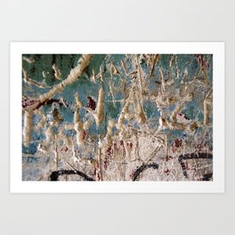 Scratched Surface Art Print