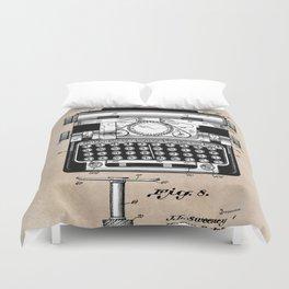 patent art typewriter Duvet Cover