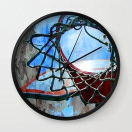 Basketball art spotlight vs 6 Wall Clock