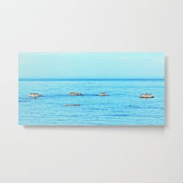 Circle of Rocks, The Cormorants and the Whale  Metal Print