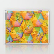 Harlequin Rainbow Leaves Laptop & iPad Skin