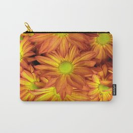 Shades of Orange Daisy Mums Carry-All Pouch