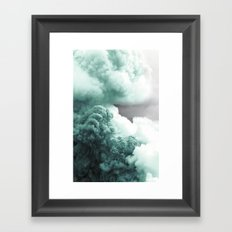 Sea Foam Explosion Framed Art Print