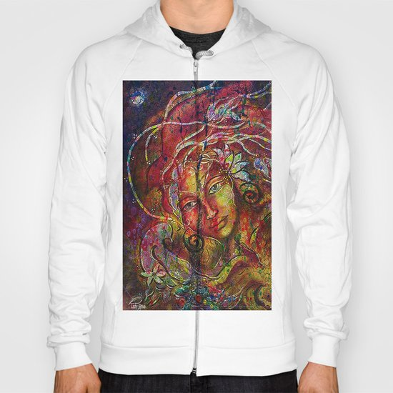 The more we rise and the more we see far. Hoody
