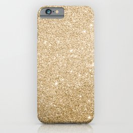Modern abstract elegant chic gold glitter iPhone Case