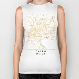 CAIRO EGYPT CITY STREET MAP ART Biker Tank