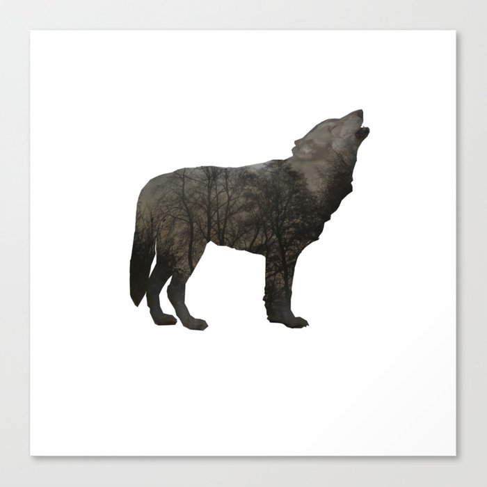 SOUL OF A WOLF Canvas Print