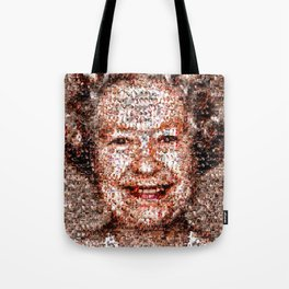 BEHIND THE FACE Queen Elizabeth | drunk and pregnant girls Tote Bag