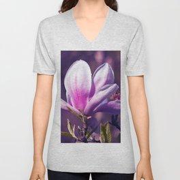 Ultra Violet Magnolia Unisex V-Neck