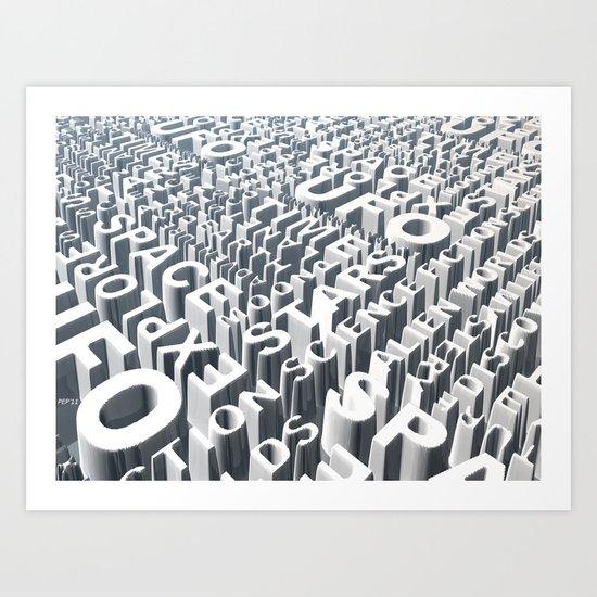 Space Syllables Art Print