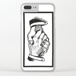 Handshake Clear iPhone Case