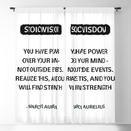 Stoic Philosophy Quotes - You have power over your mind - Marcus Aurelius Blackout Curtain