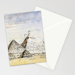 Pyramides of Giza, Cairo Egypt Stationery Cards