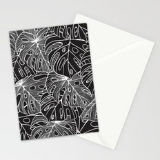 B&W Philodendron Stationery Cards