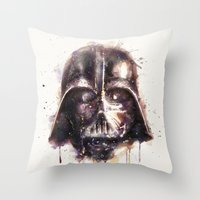 darth vader Throw Pillows featuring Darth Vader by beart24