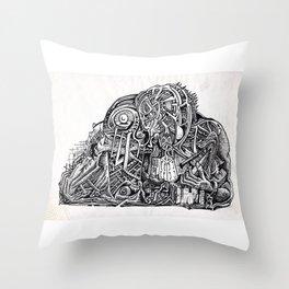 Psycho Warrior, by Brian Benson Throw Pillow