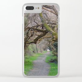 Tree tunnel at Wye Island | Eastern Shore, Maryland Clear iPhone Case