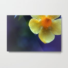 A drop of yellow Metal Print