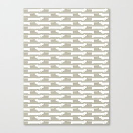 White Wiener Canvas Print