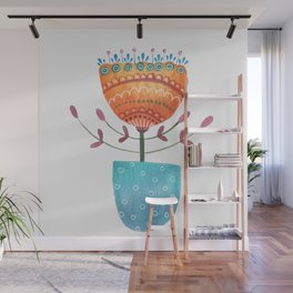 Day 25 Watercolor Flower Wall Mural