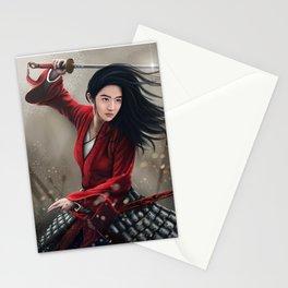 Chinese Female Warrior Mulan Stationery Cards
