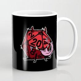 D20 mimic pup red on black Coffee Mug