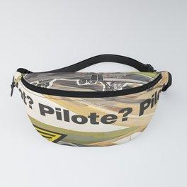 Advertisement pilot pilote pilota  droite Fanny Pack