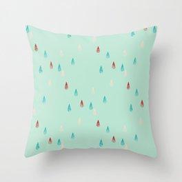 Raindrop Repeat Throw Pillow