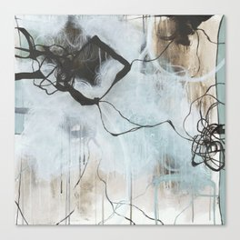Static and Storm - Square Abstract Expressionism Canvas Print