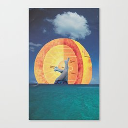 Drowned in the Sunrise Canvas Print