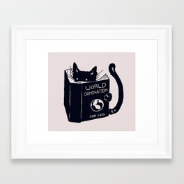World Domination For Cats Framed Art Print