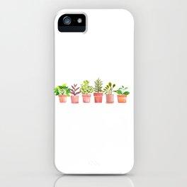 Indoor Plant Collection/Pothos/Philadendron/TradscantiaNanouk/Hoya/BearsPaw/Senecio Crassissimus iPhone Case