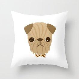 Dapper Brussels Griffon Throw Pillow