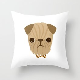 Dapper Brussels Griffon Throw Pillow