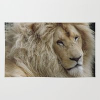 the lion king Area & Throw Rugs featuring Lion King by Captured In A Click