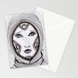 Ela. Green eyes Stationery Cards