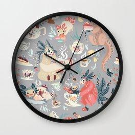 Tea Spirit pattern Wall Clock