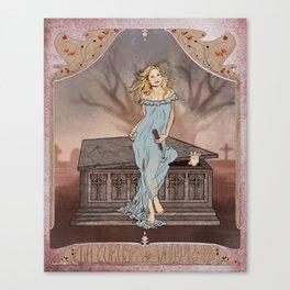 Boticelli/Art Nouveau Buffy Canvas Print