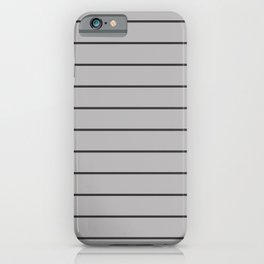 Dark Grey on Silver Pinstripes | Wide Horizontal Pinstripes iPhone Case