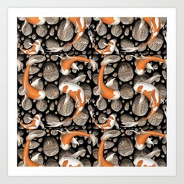 Koi Fish Pattern Art Print